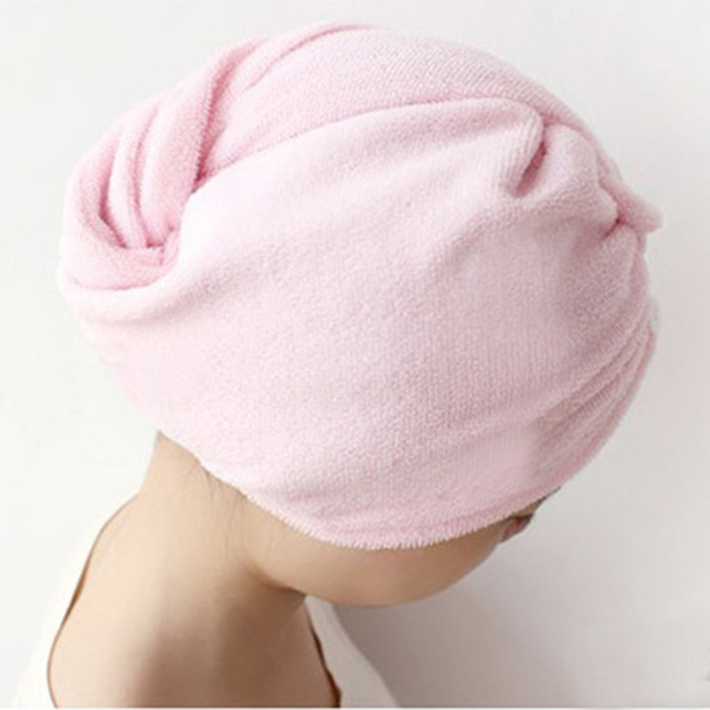 51x21 cm Lady's Magic Dry Hair Cap Quick Dry Hair Towel Lovely Drying Bath Towel Soft Head Wrap Hat Makeup Cosmetics Hair Towels