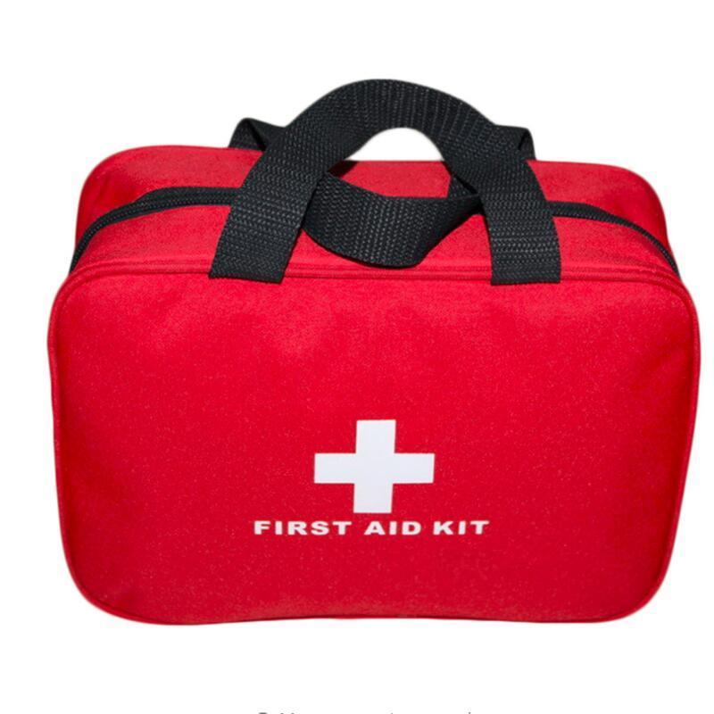 Kit de primeiros socorros com bolsa, kit grande de primeiros socorros para viagem, acampamento, kit de primeiros socorros