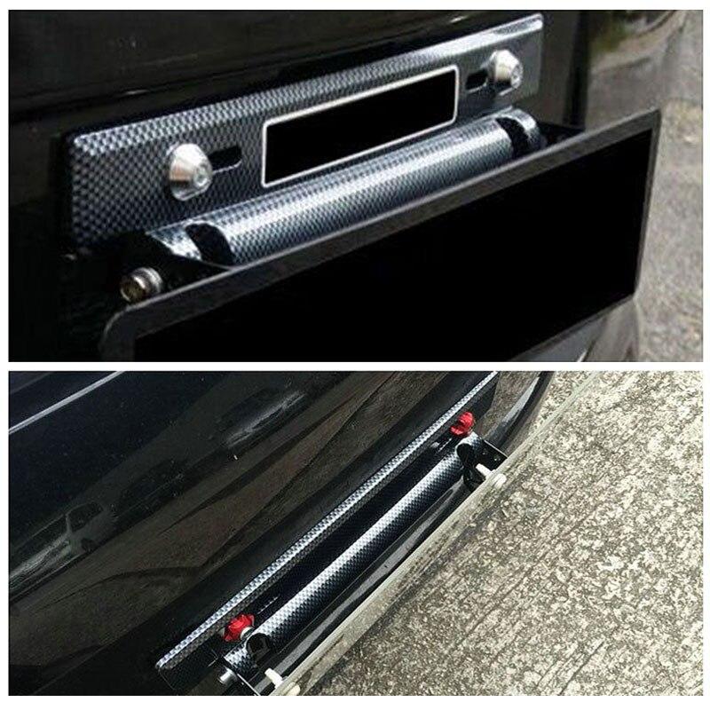 Modyfikacja samochodu część tablicy rejestracyjnej regulowany wzór z włókna węglowego numer Car Racing uchwyt ramy tablicy rejestracyjnej dla większości Auto
