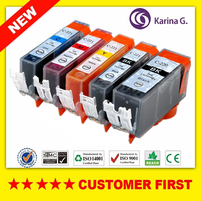 Compatible for PGI220 CLI221 Ink Cartridge For <font><b>Canon</b></font> <font><b>PIXMA</b></font> <font><b>IP3600</b></font> IP4600 IP4700 MX860 MX870 MP550 MP560 MP620 MP620B etc. image