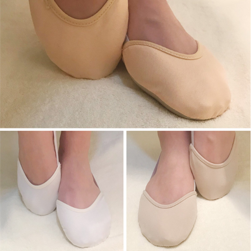 Half Length Child Adult Dancing Pads Insoles Rhythmic Gymnastics Equipment Soft Breathable Socks Knitted Sole Shoes Art Gym Sock