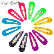 12 шт флуоресцентные заколки для волос ярких цветов девочек