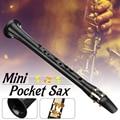 Черный LittleSax мини саксофон портативный C Ключ саксофон ABS легкий саксофон музыкальные инструменты с сумкой для переноски для нищий - фото