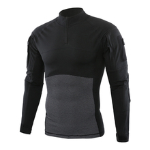 ESDY Spring Autumn Men's T-Shirt Quick Dry Anti-microbial Stretch Coats Breathable for Hiking Camping Riding Male Clothing VA713