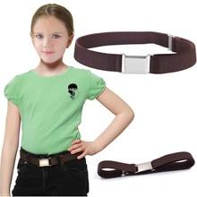Детский Эластичный пояс без пряжки, тянущийся пояс для детей ясельного возраста, регулируемые ремни для джинсов для мальчиков и девочек# YJ