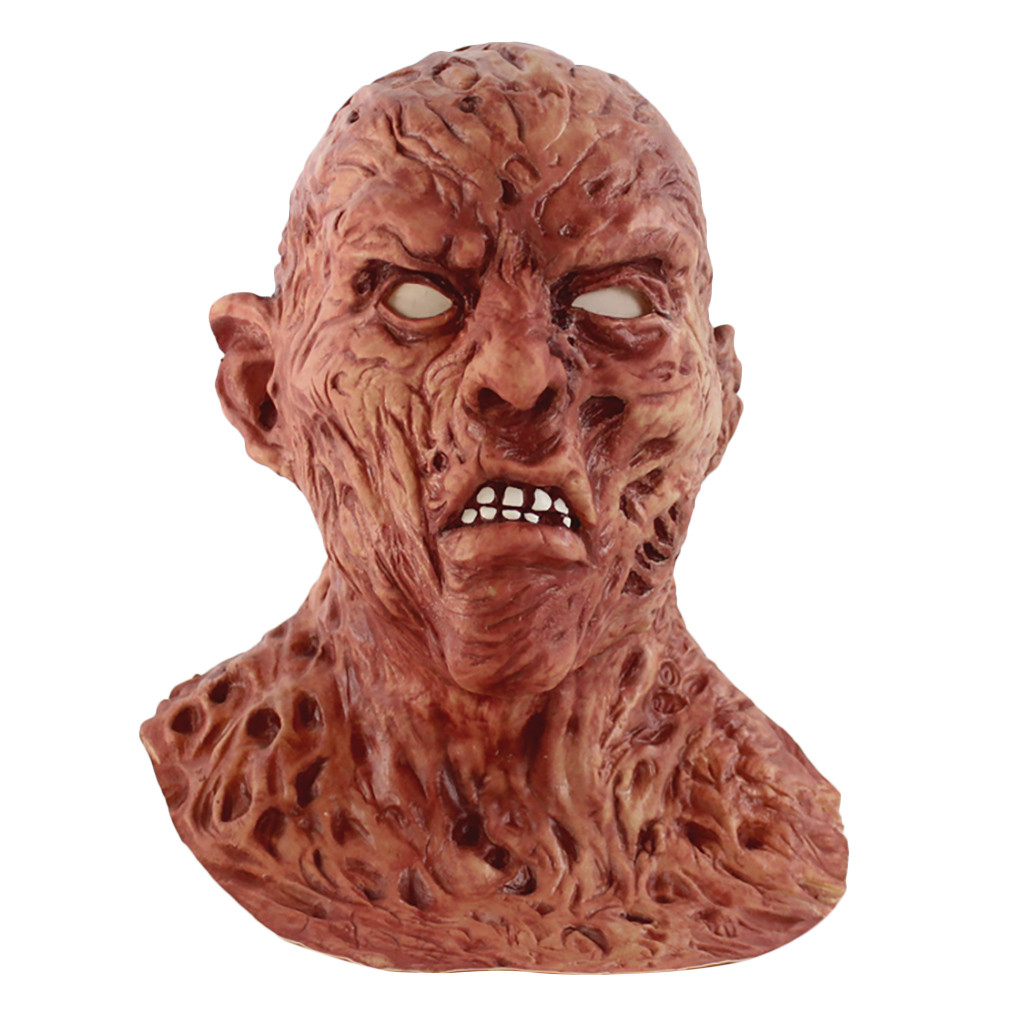 Personality Solid High Quality Halloween Funny Scary Devil Zombie Dress Up Props Latex Horror Face Mask Wholesale 20H