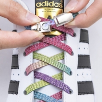 1 paire lacets magnétiques élastiques colorés lacets de chaussures plates pas de lacet de cravate enfants adultes baskets lacets paresseux taille unique chaussures