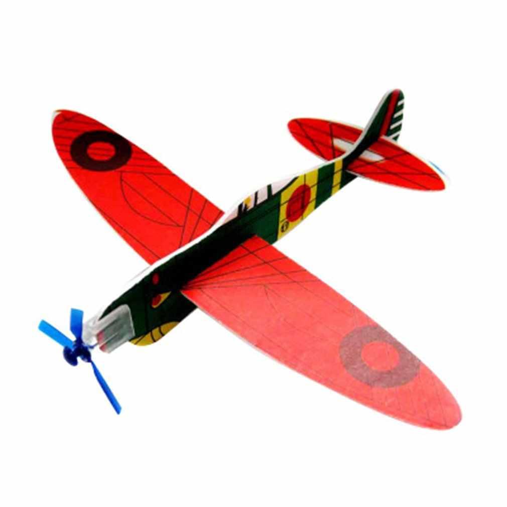 DIY ปริศนาการผลิตขนาดเล็ก Toy ชุดประกอบมือโยนร่อนเครื่องบินขนาดเล็กเทคโนโลยีการผลิตขนาดเล็ก