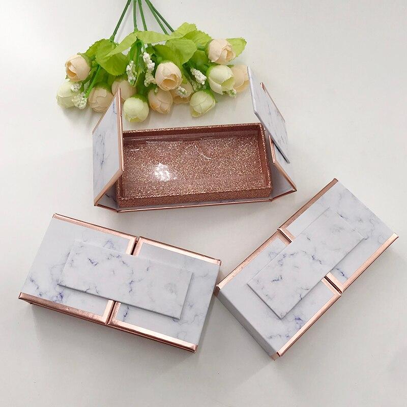 embalagens personalizadas magnetica faixa lashes cilios vazias embalagens de design de marmore para 25 milimetros 3d