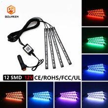 цены на Led light Bar for Car 12SMD 12v Car Cigarette Lighter Plug Led Strip Lights with APP Control Sticker Neon Decorative Lamps  в интернет-магазинах