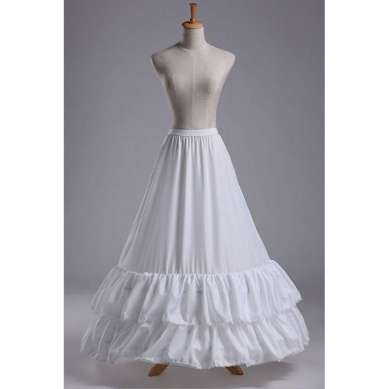 Wedding Dress Skirt Petticoat 2-layers Lotus Leaf Lace Hook Waist Skirts Fishtail Lining for Women Bride E15E