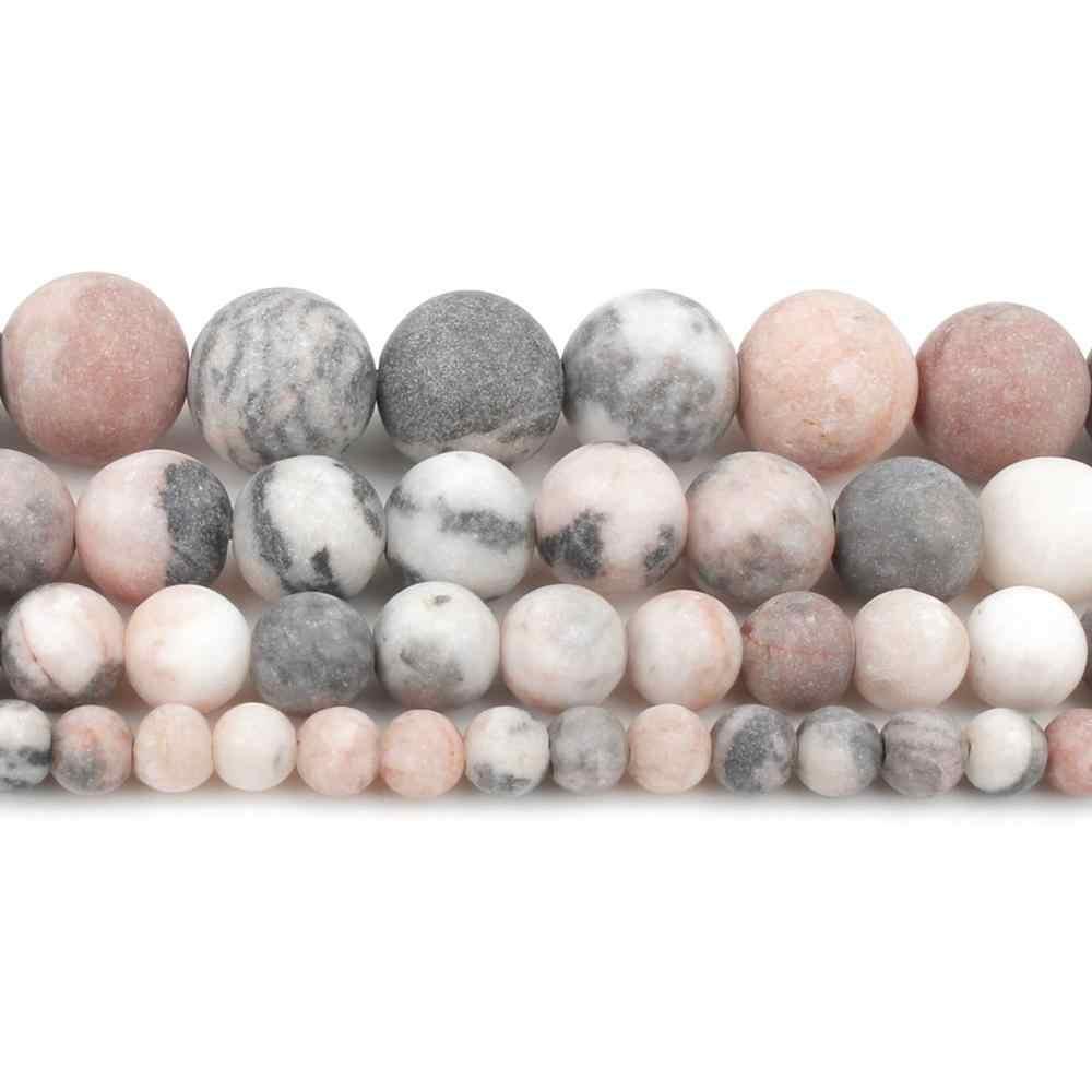 หินธรรมชาติลูกปัด 4/6/8/10 มม.เคลือบเงา Frost Cracked Agates ลูกปัดสำหรับเครื่องประดับทำ Minerals DIY สร้อยข้อมือเครื่องประดับ