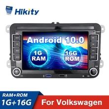 Hikity אנדרואיד 10.0 רכב נגן מולטימדיה 2 דין GPS סטריאו לרכב רדיו 7 Canbus רכב MP5 נגן עבור סקודה פולקסווגן פאסאט B6 פולו גולף