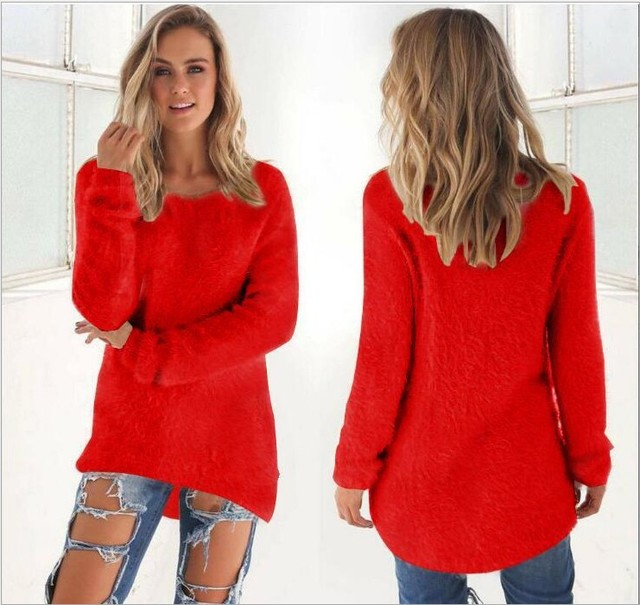 Super Soft And Comfortable Self-Cultivation Solid Color O Neck Pullover Women's Sweater Fashion Sexy Top Ladies Hipster Clothing 2