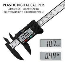 Ferramenta de medição eletrônica do micrômetro do calibre eletrônico 6 150 lcd da ferramenta de medição 0-Polegada mm do caliper de vernier de digitas