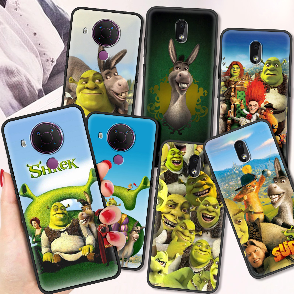 Moive Shrek Coon Cartoon Luxury Silicone Cover For Nokia 2.2 2.3 3.2 4.2 7.2 1.3 5.3 8.3 5G 2.4 3.4 C3 1.4 5.4