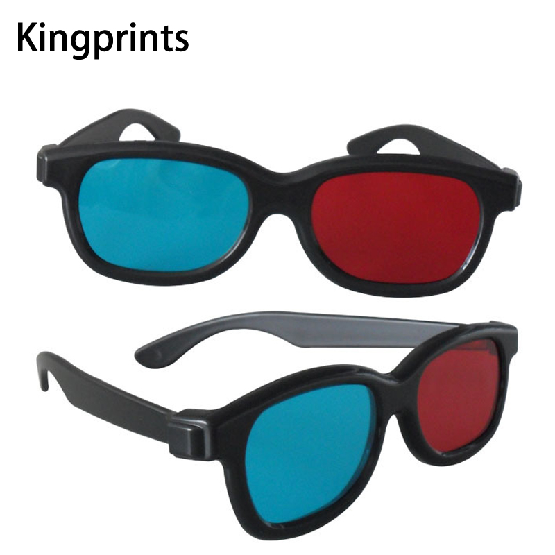2Pcs Universal Blue Red 3D Glasses Cyan Anaglyph For TV Movie Game Video Projector 3D Eye Glass