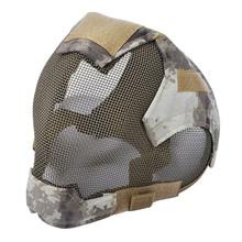 Маска для страйкбола на открытом воздухе, защитная маска из стальной сетки для ограждения всего лица