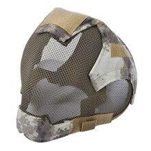 Outdoor Airsoft Masker Beschermende Full Gezicht Hekwerk Stalen Gaas Masker