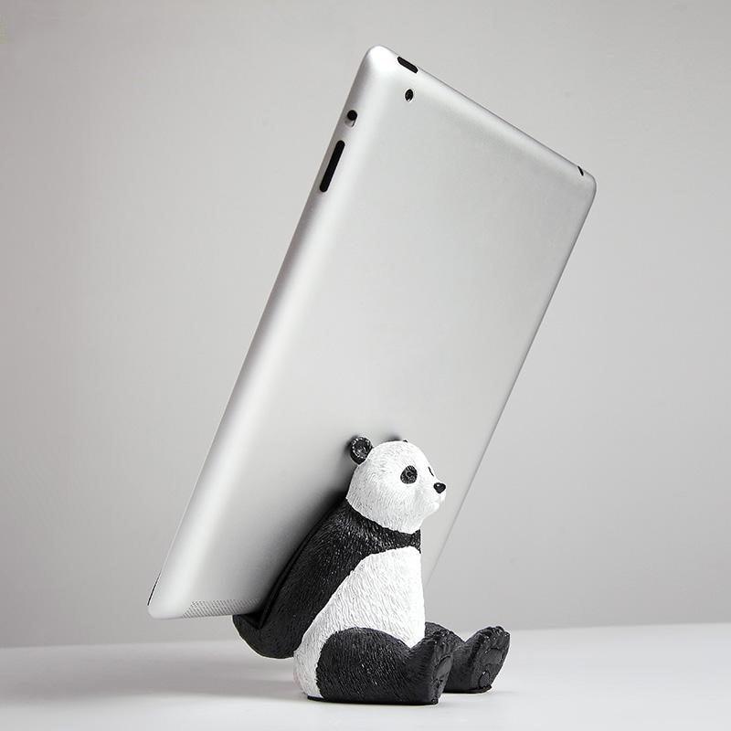 Panda Polar Bear Tablet Desktop Holder Stand Resin Crafts Phone Bracket QTY 1