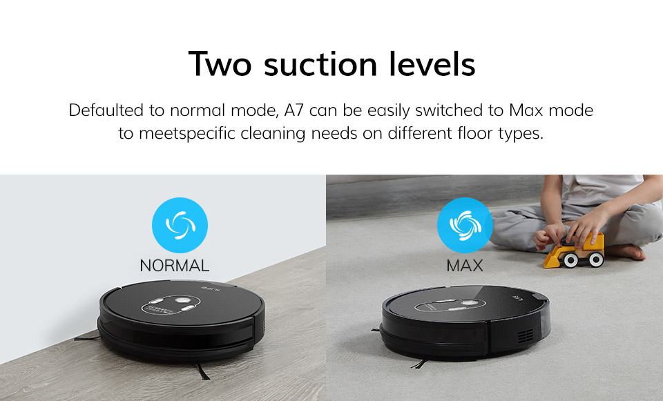 H9a0e00f44dfa4edd874ac3eac48b4e8dU ILIFE A7 Robot Cleaner Vacuum Smart APP Remote Control for Hard Floor and Thin Carpet Automatic Recharge Slim Body