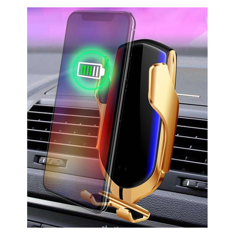 Automatic Clamping Car Wireless Charger 10W Quick Charge For IPhone 11 Pro Max XS Huawei P30 Pro Qi Infrared Sensor Phone Holder