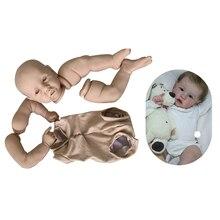 Набор для рукоделия Reborn 55 см полный набор для куклы Мягкие настоящие прикосновения свежий цвет неокрашенные незавершенные части куклы для ...