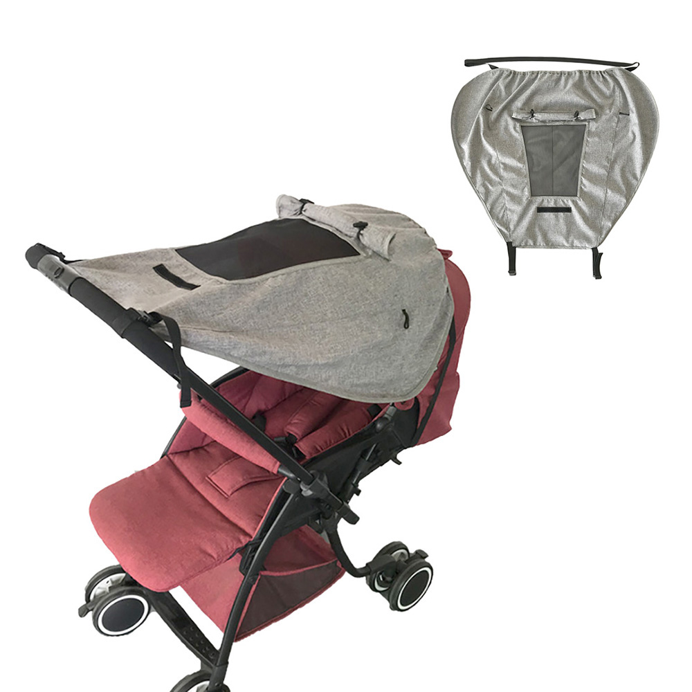 Stroller Awning Sunscreen Cloth Bag Cover Baby Infants Stroller Pushchair Cart Mosquito Insect Net Safe Mesh Toddle Netting