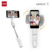 ZHIYUN الرسمية السلس X Gimbal بالو Selfie عصا الهاتف Monopod مثبت يدوي للهاتف الذكي الهاتف