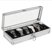 AOTU 6 Grid Insert Slots Jewelry Watches Display Storage Box