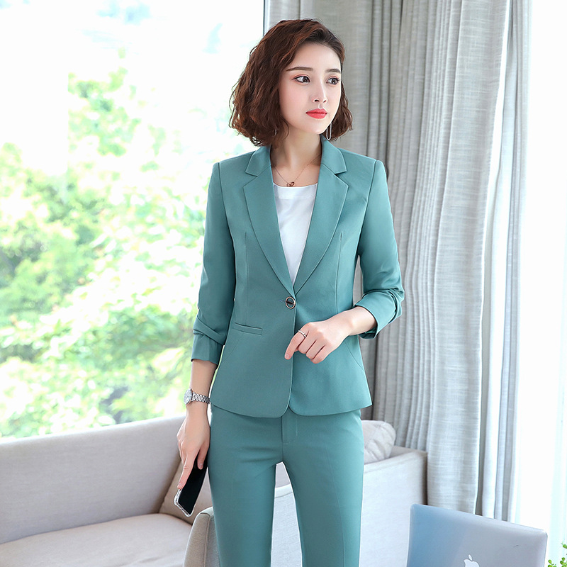 Female suit autumn and winter high quality Professional women's suit pants two-piece Ladies Office Jacket Workwear