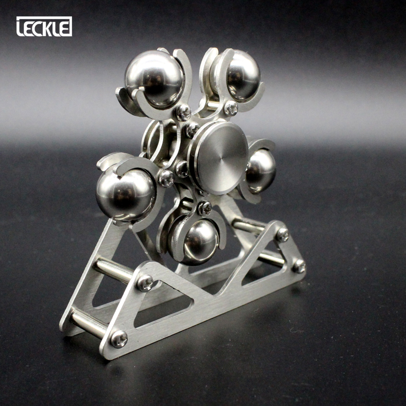 Stainless Steel Ferris Wheel Finger Spinner Office Anxiety EDC Decompression Fidget Gyro Steel Ball Hand Spinner Tri Gyroscope