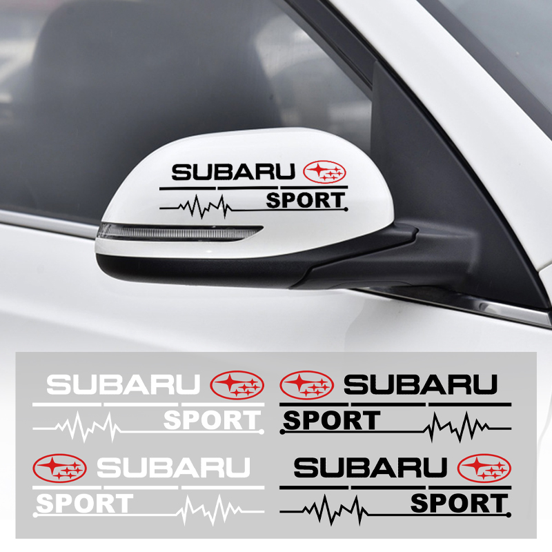 2Pc Car Rearview Mirror Side Door Front Bumper Stickers Body Styling For Subaru Forest Outback Human Lion XV Impreza WRX WRC STI
