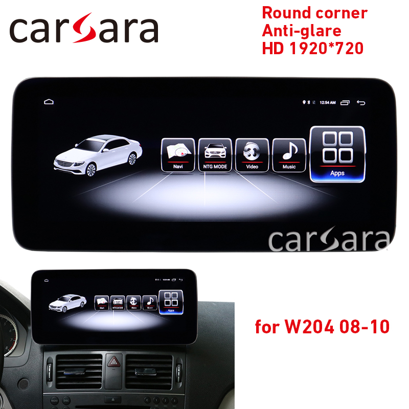 Car navigation Android player C class W204 round corner screen <font><b>C200</b></font> anti-glare display C250 4G RAM 1920 tablet C300 navigation image