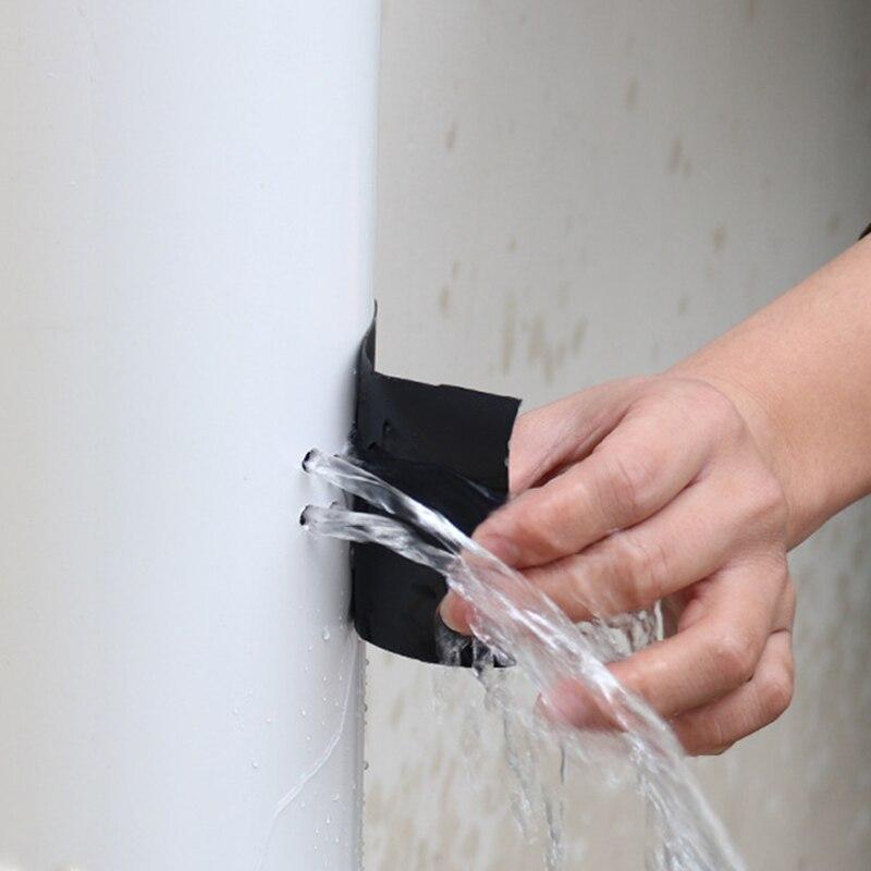 O reparo das fitas pvc/pe isola o reparo da fibra adesiva do duto de água para o silicone forte super do selo bonde da parada da tecnologia preta