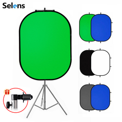 Портативный фон для фотосъемки с рефлектором Chromakey, зеленый экран, фоновые Декорации для YouTube, видеостудии, 100x150 см, 2 в 1