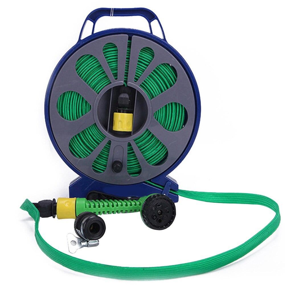 15 M Schlauch Rohr Reinigung Mit Griff Dünne Plattenspieler Garten Flache Bewässerung Flexible Outdoor Spray Düse Hochdruck Auto Waschen