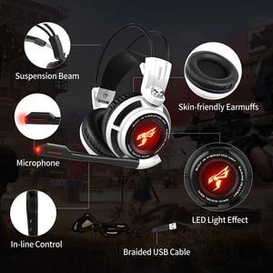 Image 5 - Somic G941 gamingowy zestaw słuchawkowy 7.1 wirtualny dźwięk przestrzenny słuchawki z mikrofonem słuchawki Stereo wibracje na komputer stancjonarny Laptop