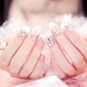 Image 5 - Polvo acrílico para esculpir uñas en 3D, polvo acrílico para salón de manicura, color rosa/Blanco/transparente
