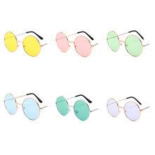1 sztuk Retro Vintage okulary okrągłe metalowe okulary przeciwsłoneczne mężczyźni kobiety modne okulary kierowcy okulary marka projektant