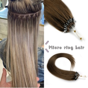 """Image 1 - Neitsi Straight Loop Micro Ring Hair 100% Human Micro Bead link Machine Made Remy Extension 16 """"20"""" 24 """"1 g/s 50g 20 colori"""