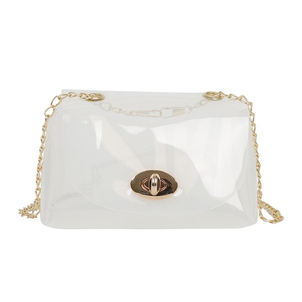 Women Wild Messenger Bag Transparent Jelly Bag Shoulder Bag