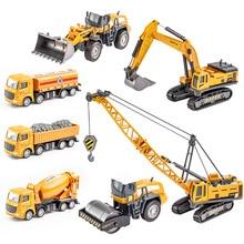 1:50 Crane Dump Truck Excavator Wheel Loader Diecast Metal Model Machine Construction Engineering Vehicle Toys for Boys Gift cat caterpillar ct660 dump truck yellow 1 50 model by diecast masters 85290