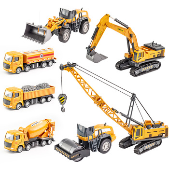 City Engineering Bulldozer Crane Technic Car Truck Excavator Roller Building Machine Construction Vehicle Toys for Boys Gifts new city construction instrument building blocks city engineering bulldozer crane technic truck brick toys for children gift