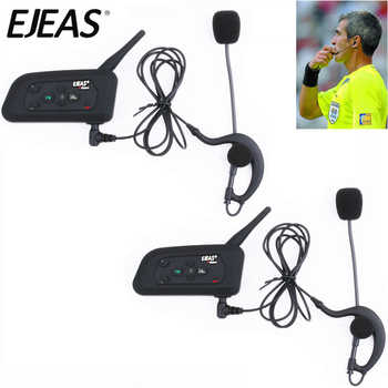 2pcs EJEAS V4C 1200M Full Duplex Football Referee Intercom Headset Bluetooth Headphone with FM Radio BT Interphone Earphone - DISCOUNT ITEM  21 OFF Automobiles & Motorcycles