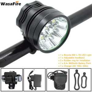 Велосипедный фонарь WasaFire 9 * XML T6, светодиодный фонарь для велосипеда, 15000LM, Передний фонарь для велосипеда, 3 режима, MTB, велосипедный фонарь ...