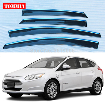 tommia Brand New For Ford Focus 2012 Window Visor Shade Vent Wind Rain Deflector Guards Cover 4pcs/Set