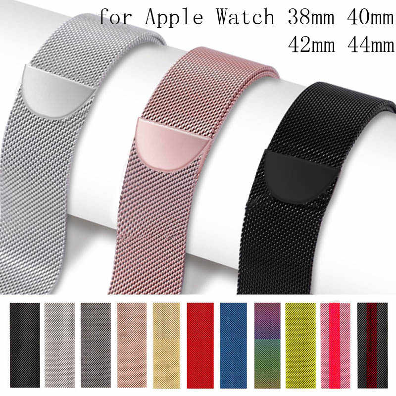 Milanese Loop Bracelet Stainless Steel band for Apple Watch 1/2/3 42mm 38mm apple watch strap for iwatch 4 40mm 44mm watchband