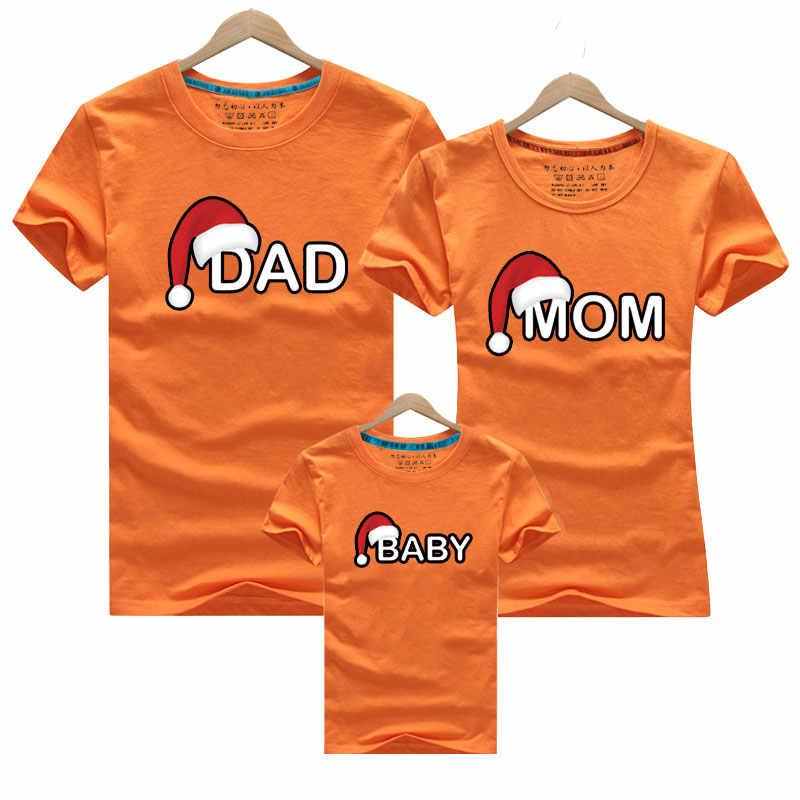 Tata mama dziecko boże narodzenie T-Shirt odzież na jednakowe stroje rodzinne ubrania matka córka ojciec syn wygląd mama i ja koszula
