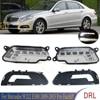 X-CAR LED Left Right Daytime Running Light  DRL Lower Bumper Grilles For Mercedes W212 E300 E350 E500 2009-2013 Pre-Facelift